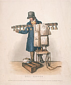 Bell-ringer with the stand for his bells, 1820