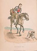 Butcher's boy riding a horse, c1830