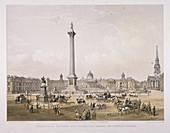Trafalgar Square, Westminster, London, 1852