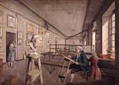An artist copying a bust, London, c1780