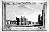 View of the Bank of England showing the new wing, 1790