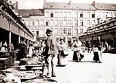 Market stalls, Antwerp, 1898