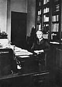 Marie Curie, Polish-born French physicist, 1925