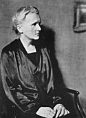Marie Curie, Polish-born French physicist, 1929