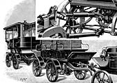 Renard's automobile train, 1904