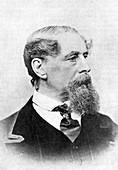 Charles Dickens, English author, c1850-1870