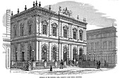 Exterior view of the National Bank, Glasgow, Scotland, c1850