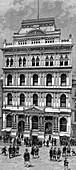 Exterior view of the New York Stock Exchange, 1885