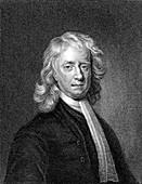 Isaac Newton, English mathematician and physicist