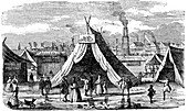 Frost Fair on the Thames at London, 1734-1740