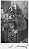 Dmitiri Ivanovich Mendeleyev, Russian chemist, c1900s