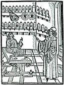 The apothecary's shop, Strasbourg, 1483.