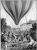 Joseph Louis Gay-Lussac making a balloon ascent, 1804