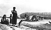 Patagonians at Gregory Bay, 1831