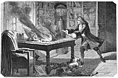 Isaac Newton, English scientist and mathematician, 1874