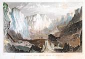 Carglaze tin mine, near St Austell, Cornwall, England, c1825