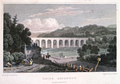 Chirk Aqueduct on the Ellesmere Canal, c1829