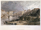 Sunderland and the Iron Bridge looking eastwards, 1833