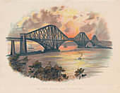 Forth Railway Bridge from the south-east, Scotland, c1895