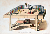 The amateur chemist's laboratory bench, 1860