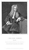 Isaac Newton, English mathematician and physicist, 1836