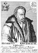 Heinrich Khunrath, German chemist and alchemist, 1725