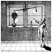Experiment designed to show that air has weight, 1672