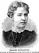 Sonia Kowalevski, Russian mathematician, 1888