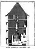Newcomen-type steam engine, 1767