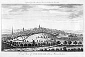 East View of Birmingham in Warwickshire', 1779