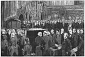 Funeral of Charles Darwin, English naturalist, 1882