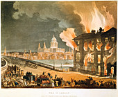 Fire in London', 1808