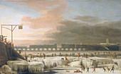 The Frozen Thames', 1677