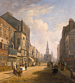 The Strand, Looking Eastwards from Exeter Change', c1824