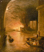 The Palace of Westminster on Fire', 1834