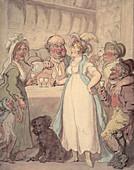 Pleasures' of gin drinking, c1810
