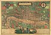 Earliest printed map of London, 1574