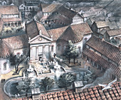 Palace of the Roman governor of London, after c80 AD