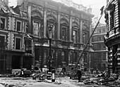 Carpenters' Hall bomb damage, London, 1941