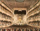 Interior of the Covent Garden Theatre, London, 1808