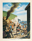 A Viking Raid on a Saxon Village', 1953