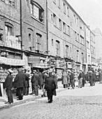 Sunday bird fair, Sclater Street, London, c1900