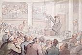 Professor F Accum lecturing at the Surrey Institute, London