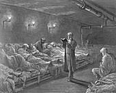 Scripture Reader in a Night Refuge', 1872