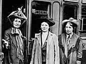 Emmeline, Christabel and Sylvia Pankhurst, 1911