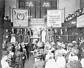 A meeting at Caxton Hall, 1908