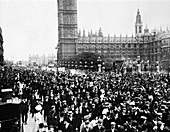 Crowds en route to Women's Sunday, London, 1908