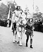 Marjorie Annan Bryce dressed as Joan of Arc, 1911
