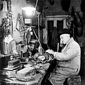 Taxidermist, London, 1951