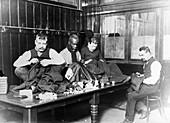 The Whitechapel Mission - Tailors, London, c1910